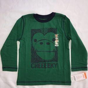 Gymboree long sleeve monkey shirt cheeky 3T boy